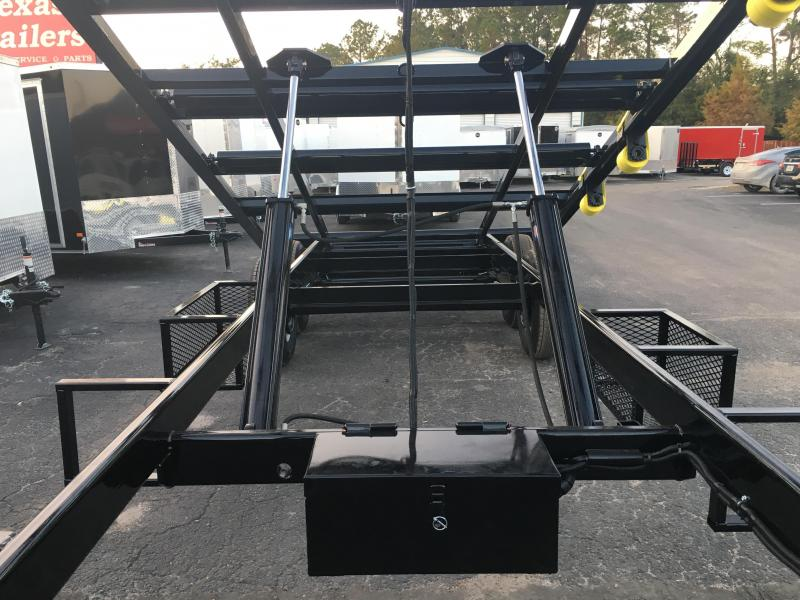 CT2414G TEXAS TRAILERS 24' CUSTOM ROLLER TRAILER