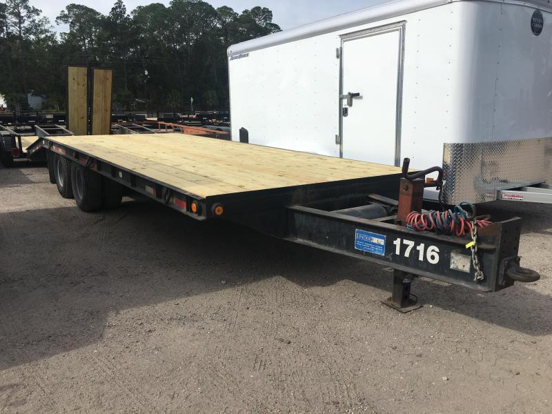 2004 BELSHE 25' FLATBED TRAILER W/ AIR BRAKES in Ashburn, VA