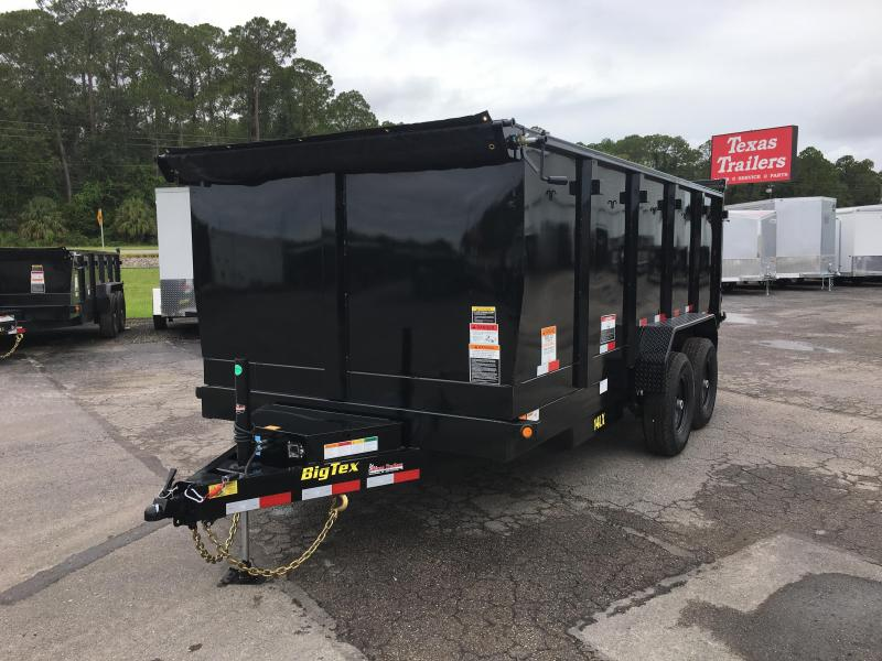 14LX-16 BIG TEX 7' X 16' DUMP TRAILER W/ 4' SIDES & HYDRAULIC JACK in FL