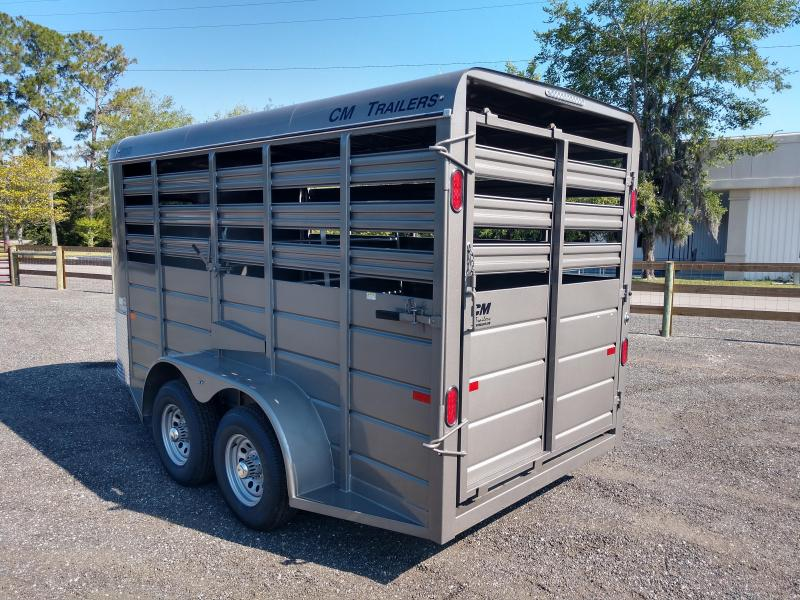 CMS6630-14 C.M. TRAILERS 14' STOCK TRAILER W/1 CUT GATE AND COMBO REAR GATE
