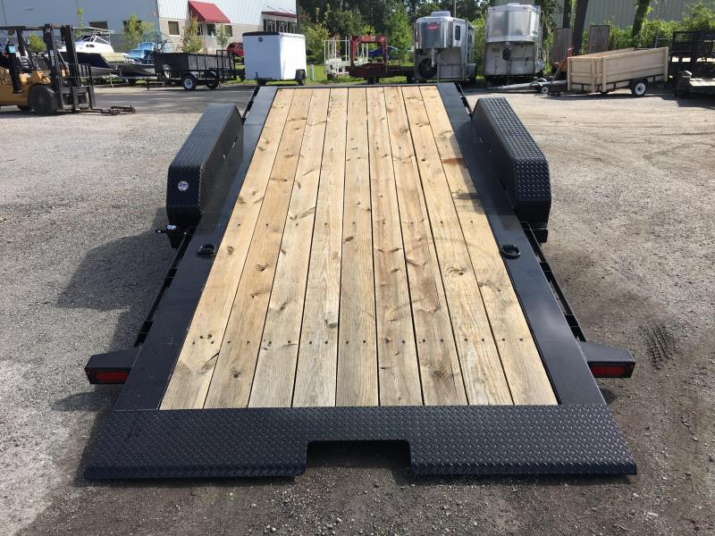 16TL-20BK BIG TEX 20' TANDEM AXLE TILT DECK EQUIPMENT TRAILER