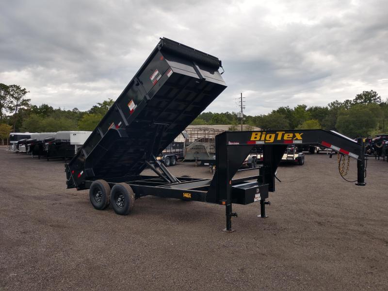 14GX-16BK7SIRPD BIG TEX 7' X 16' DUMP TRAILER W/ 2' SIDES