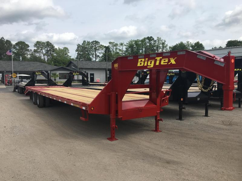 22GN-30BK+5MR BIG TEX 35' GOOSENECK DUAL TANDEM FLAT BED W/ MEGA RAMPS & FREE SPARE TIRE in Ashburn, VA