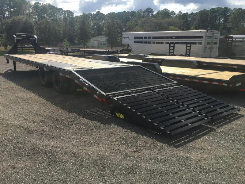 25GN-35BK+5MR BIG TEX 35' + 5' DUAL TANDEM DECKOVER FLATBED W/ 12K AXLES & 14-PLY TIRES