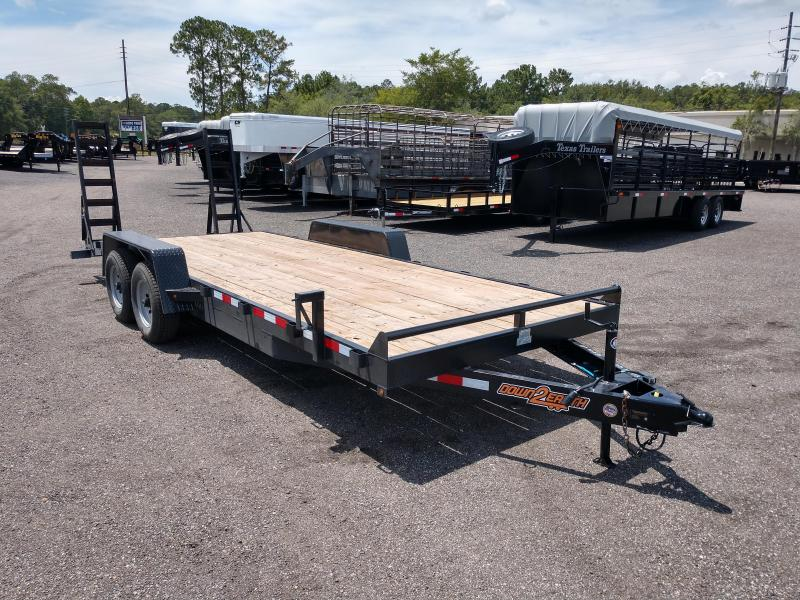 2019 DOWN TO EARTH EQUIPMENT TRAILER W/ STAND UP RAMPS