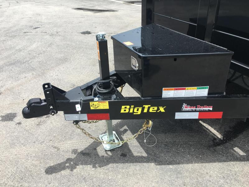 90SR-10BKBK7SIR BIG TEX 10' DUMP TRAILER W/ 7' SLIDE IN RAMPS & COMBO REAR GATE