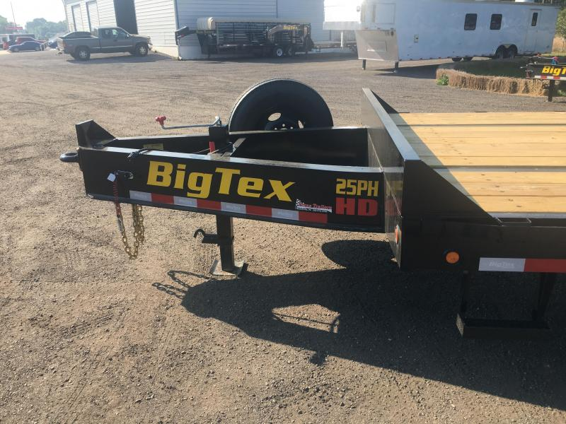 25PH-20BK+5MR BIG TEX 25' FLATBED TRAILER W/ MEGA RAMPS & LOAD RANGE G 14-PLY TIRES