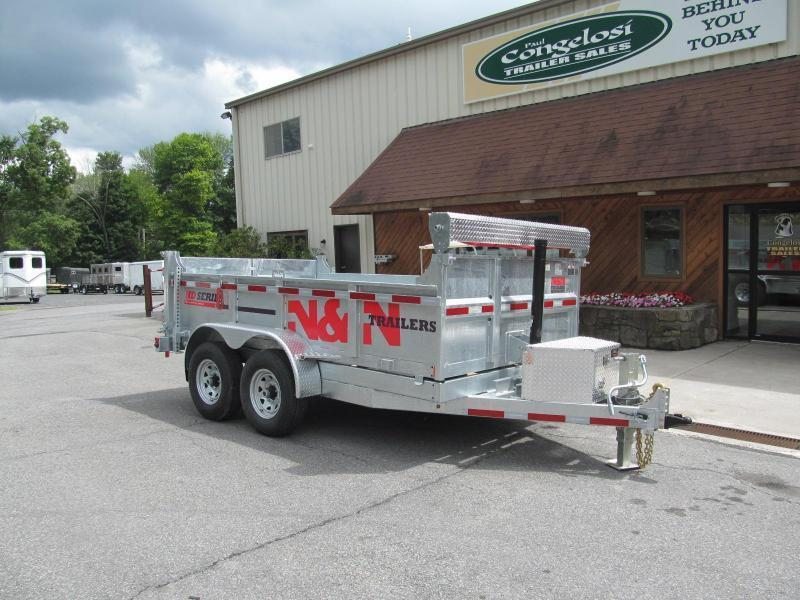 2019 N and N HD Series 7 X 16 Galvanized Dump Trailer