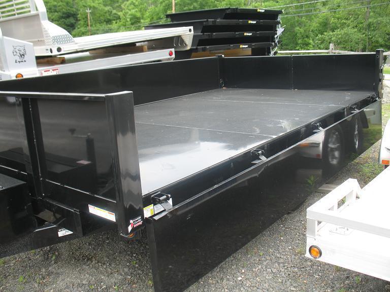 Sure-Trac HD Deckover Dump w/ Fold Down Sides Dump Trailer