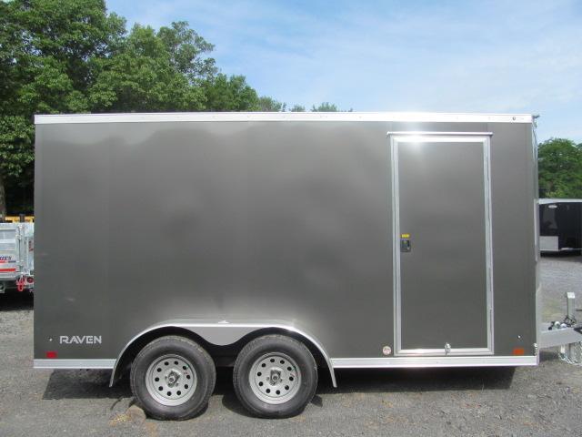 2020 ATC Raven Aluminum Enclosed 7 X 14 V Front