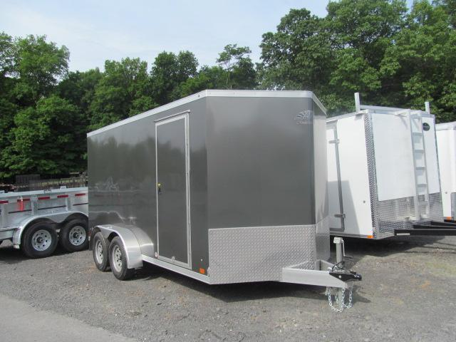 2020 ATC Raven Aluminum Enclosed 7 X 14 V Front