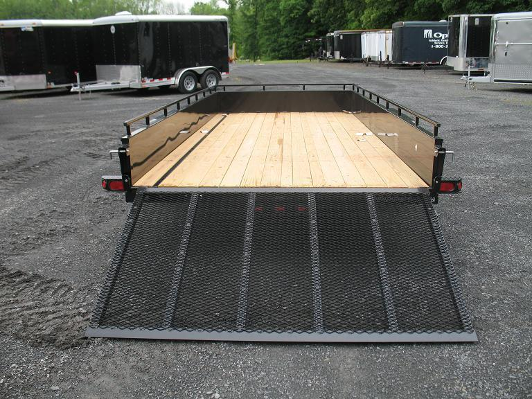 Sure-Trac Solid Side Double Axle Utility Trailer