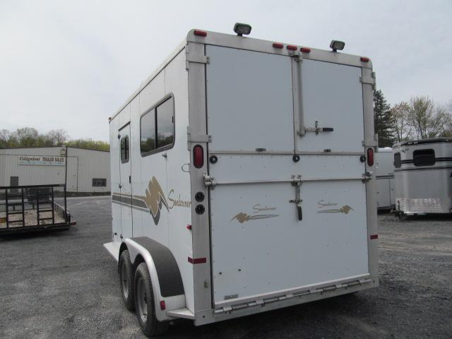 1999 Sundowner Trailers 2H BP with DR Horse Trailer