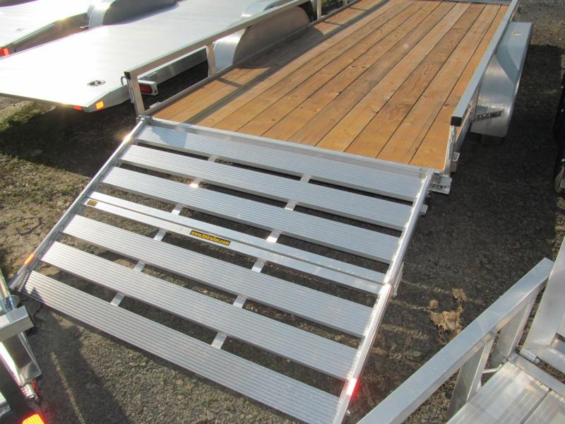 2019 H and H 7 x 16 Aluminum Double Axle Utility Trailer