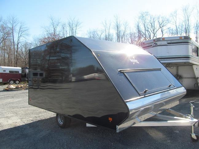 2018 Mission 2 Place Crossover w/ Side Door and Ski Guides Snowmobile Trailer