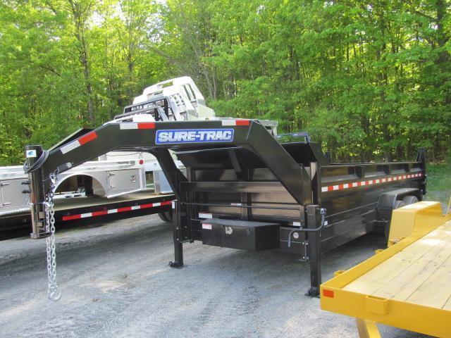 2017 Sure-Trac 7 x 16 8 Ton Gooseneck Dump Trailer