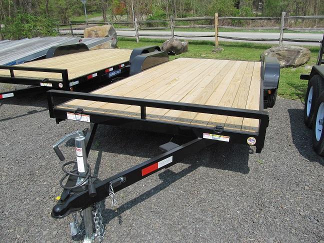 Sure-Trac C-Channel Car Trailer w/ Beaver Tail