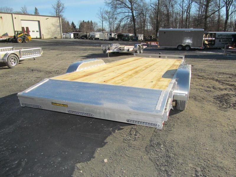 2019 H and H Trailer Aluminum Flatbed 20 Ft 10K Equipment Trailer