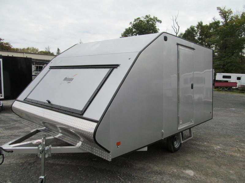 2019 Mission 2 Place Crossover w/ Side Door and Ski Guides Snowmobile Trailer