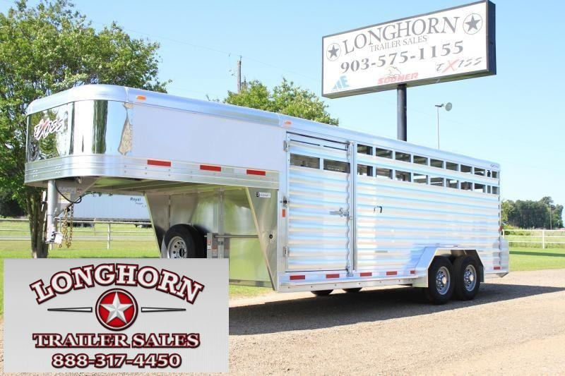2019 Exiss 20' Stock Trailer  With Side Ramp