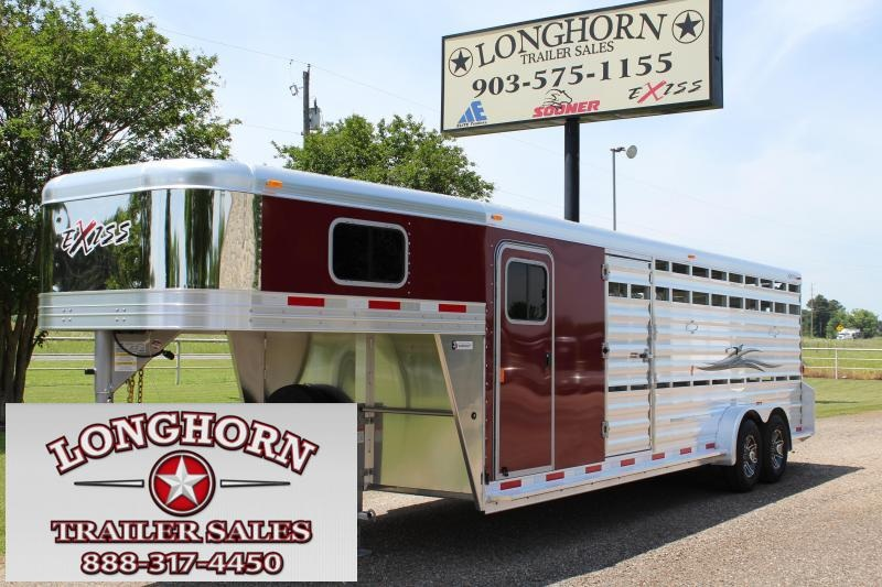 2019 Exiss Trailers 24' Show Cattle Combo with Side Ramp in Tack Room