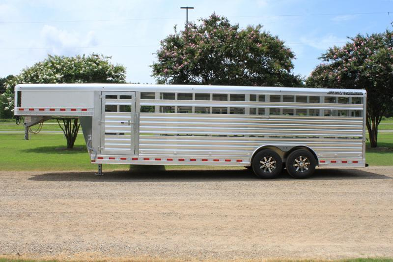 2020 Elite 24ft x 8ft Show Cattle Stock with Side Ramp