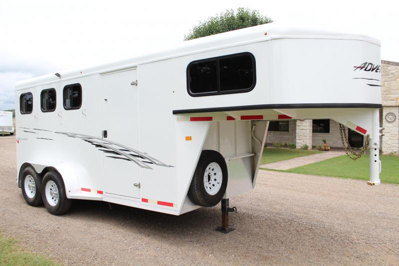 2017 Trails West Manufacturing 3 Horse with Tack Room and Swing Out Saddle Horse Trailer
