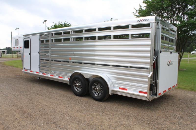 2019 Exiss 24ft Show Cattle Combo w/ Double Side Ramp 4 pen System/ Side & Rear Ramp