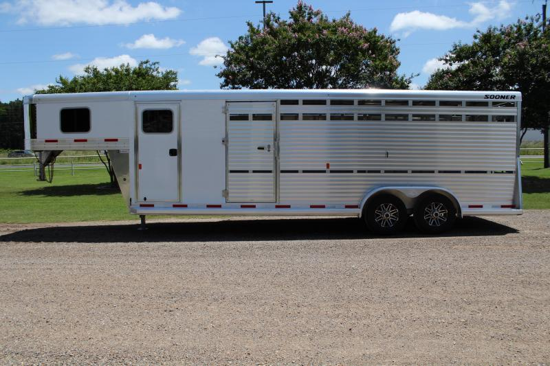 2020 Sooner 24ft Stock Combo with 6ft Tack Room and SideRamp Livestock Trailer