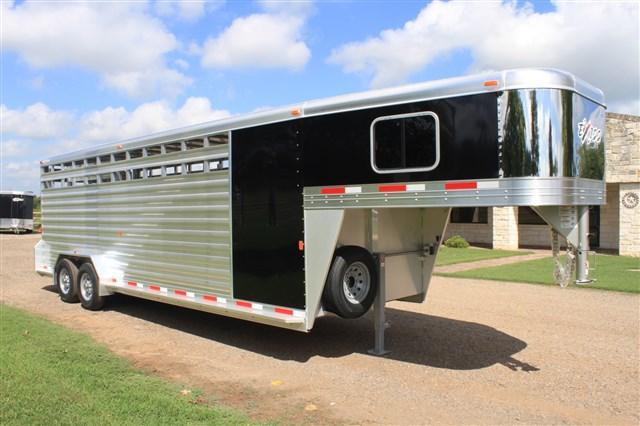 2018 Exiss Trailers 24' Stock Combo 7' Tall *Loaded* Livestock Trailer