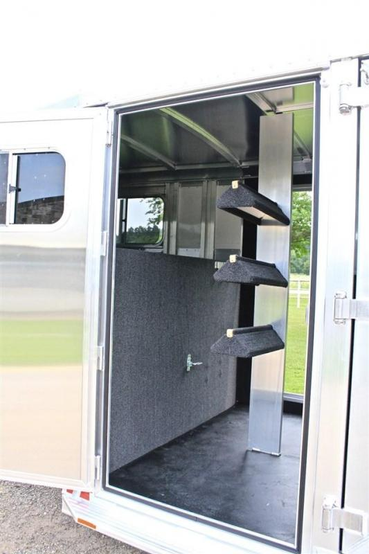 2019 Elite Trailers Roper Special with Double Saddle Racks Livestock Trailer