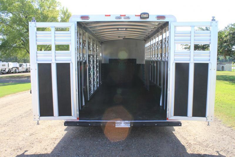 2017 Platinum Coach 25ft Custom Stock Combo with Half Midtack Livestock Trailer
