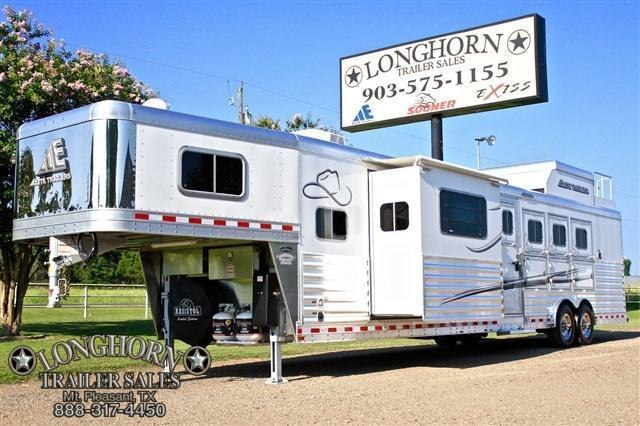 2018 Elite Trailers 4 Horse 15' Shortwall with Slide Out Resistol* Horse Trailer