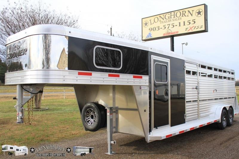 2019 Sooner 24ft Show Cattle Combo with 4 Pens and Side Ramp