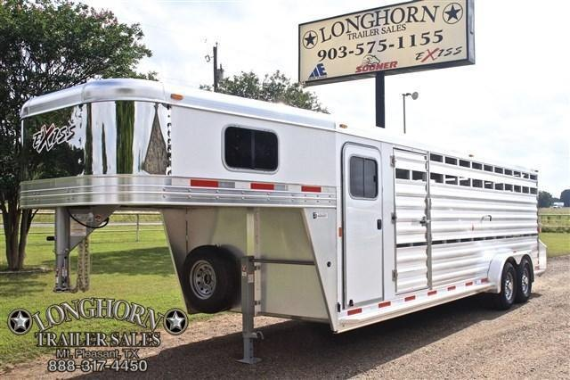 2018 Exiss Trailers 24' Stock Combo with a 4' Tack Room