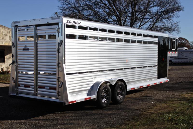 2019 Sooner 24ft Stock Combo 4'Tack and Saddle Rack