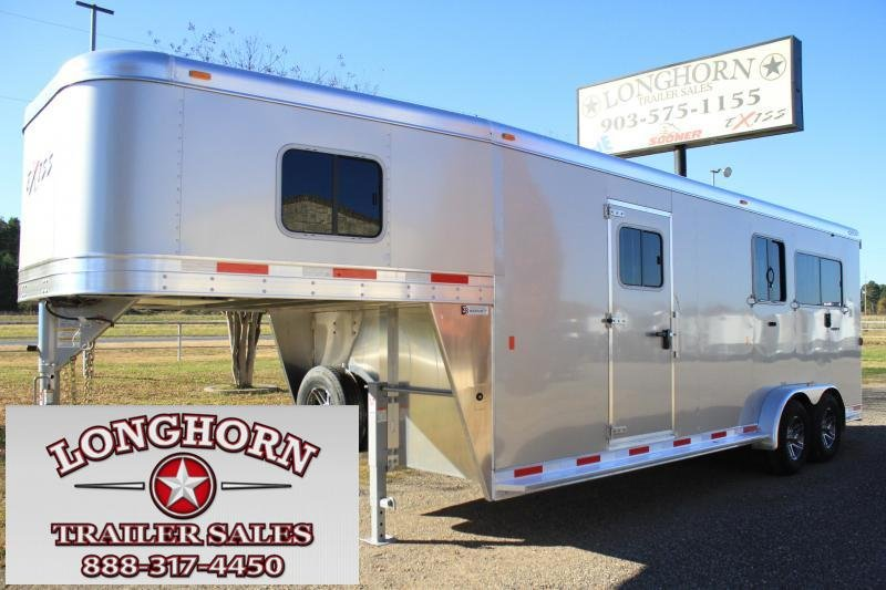 2019 Exiss Trailers 2 + 1 Straight Load Gn Horse Trailer