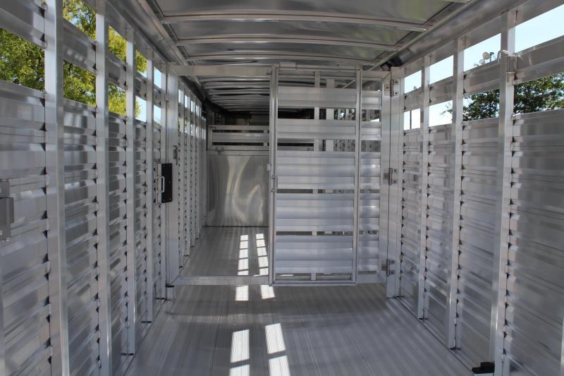 2019 Exiss 24ft x 6.8ft Aluminum Stock Trailer