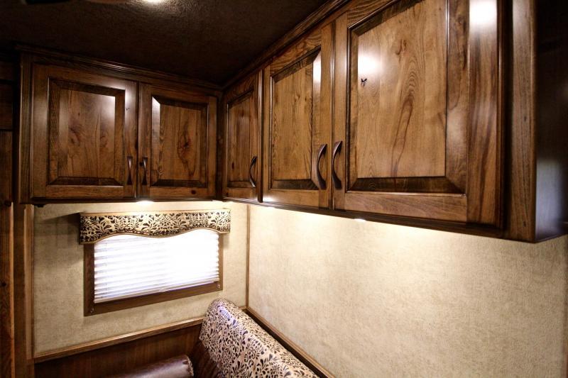 2019 Elite 4 Horse 15ft Living Quarter with Slide Out
