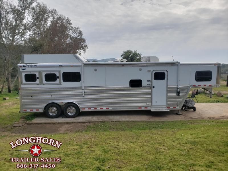 2013 Cimarron 3 Horse 12.8ft LQ by Trail Boss