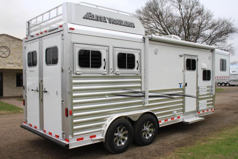 """2019 Elite 2 Horse 8'8"""" Shortwall with Mangers"""