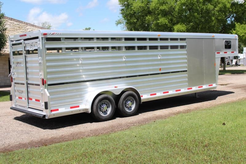2018 Exiss Trailers 24ft Stock Combo with a 6ft Tack Room Livestock Trailer