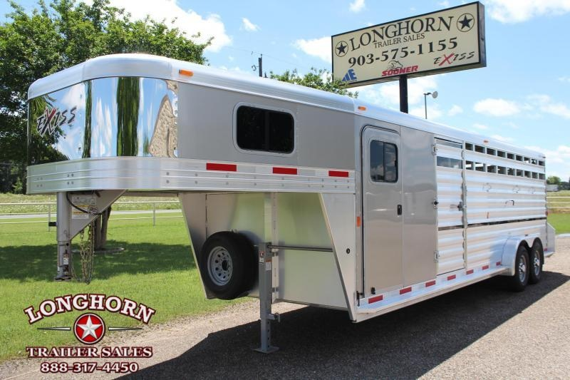 2018 Exiss Trailers 24ft Stock Combo with a 6ft Tack Room Livestock Trailer in Ashburn, VA