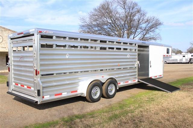 2018 Exiss Trailers 28ft Stock Combo with Side Ramp Livestock Trailer