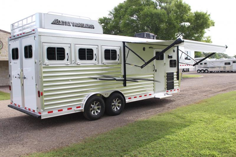2020 Elite 3 Horse 8.8ft Shortwall with Mangers