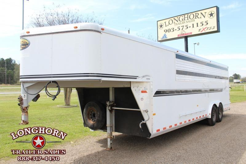 2003 Sundowner 24ft x 8ft Show Cattle with Tack Room and Ramp Livestock Trailer