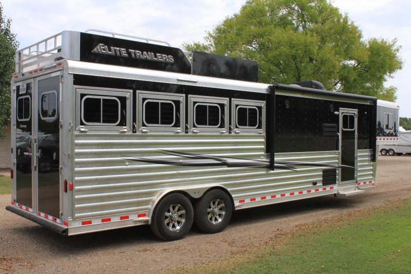 2018 Elite 4 Horse 10.8ft Shortwall with Generator