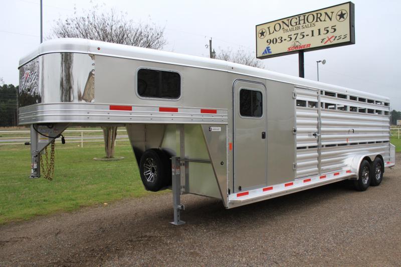2019 Exiss 24ft Show Cattle Combo w/ 4 pen System/ Side & Rear Ramp  in Ashburn, VA