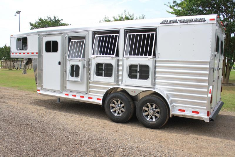 2019 Elite 3 Horse with Hydraulic Jack and Drop Windows