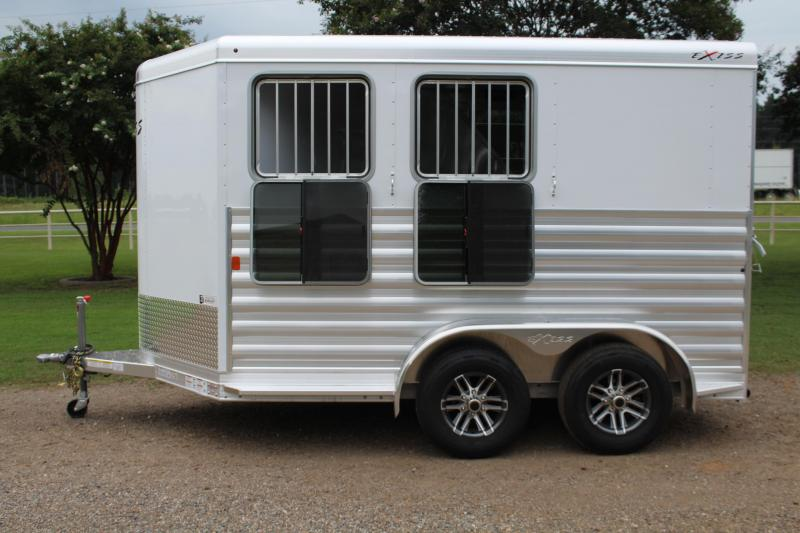 2020 Exiss 2 Horse Bumper Pull with Front Tack Room